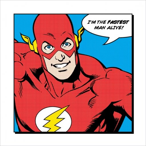 Flash - Fastest Man Alive Art Print