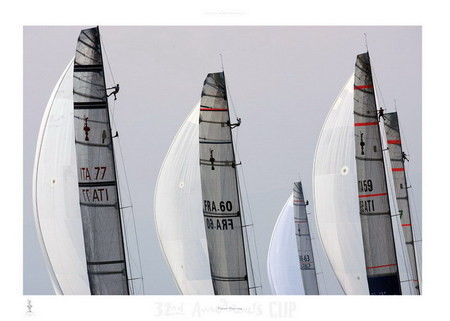 Fleet racing - 32nd America's Cup Art Print
