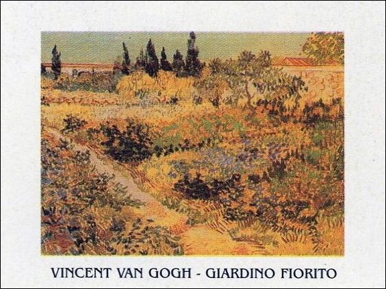 Flowering Garden with Path, 1888 Art Print