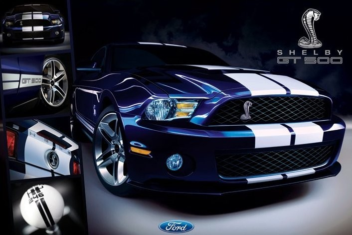 ford shelby mustang gt poster sold  europosters