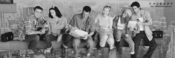 Friends - Lunch On Skyscraper Poster