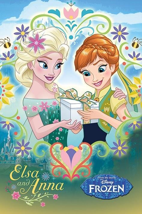 Frozen Fever - Anna & Elsa Frame Poster