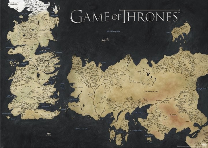 mapa game of thrones Game of Thrones   Map Poster | Sold at Europosters mapa game of thrones
