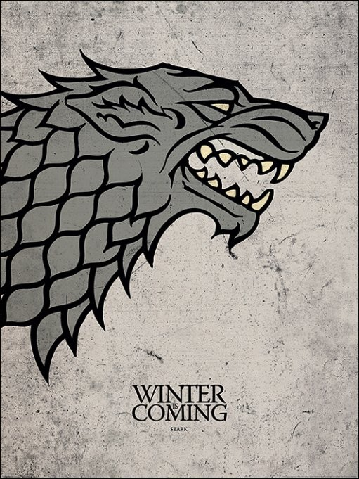 Game of Thrones - Stark Art Print