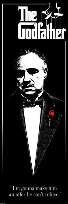 Poster GODFATHER - red rose