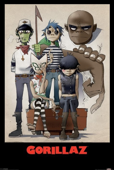 Gorillaz - all here Poster