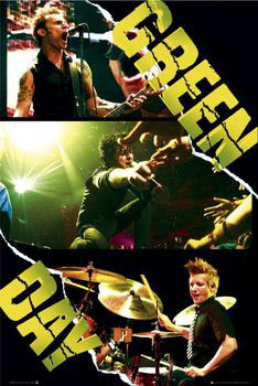 Green Day - collage Poster, Art Print
