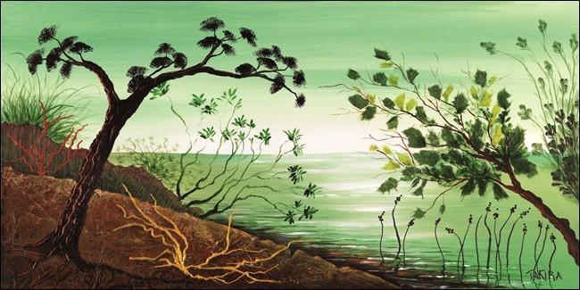 Green sunrise Art Print