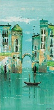 Green Venice Art Print