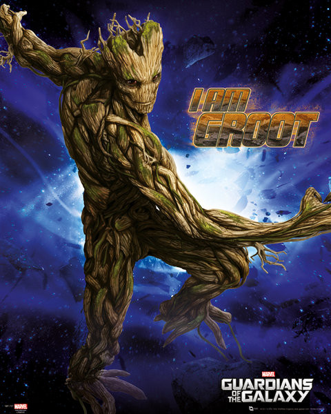 Guardians of the Galaxy - Groot Poster, Art Print