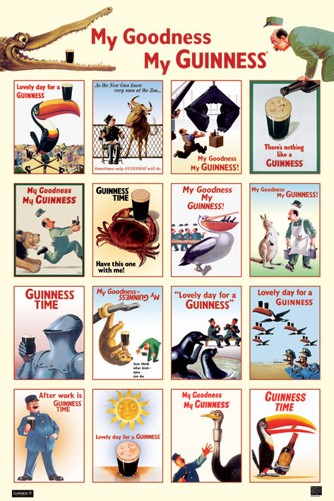 Guinness - collage Poster, Art Print