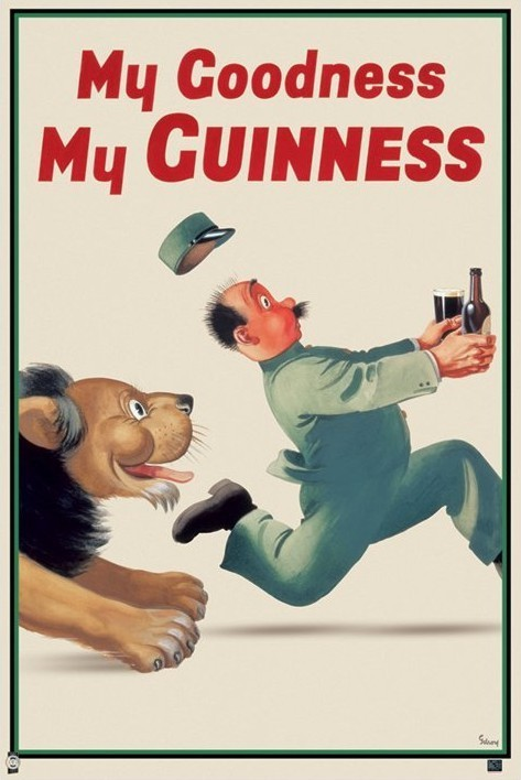 Poster Guinness - lion keeper