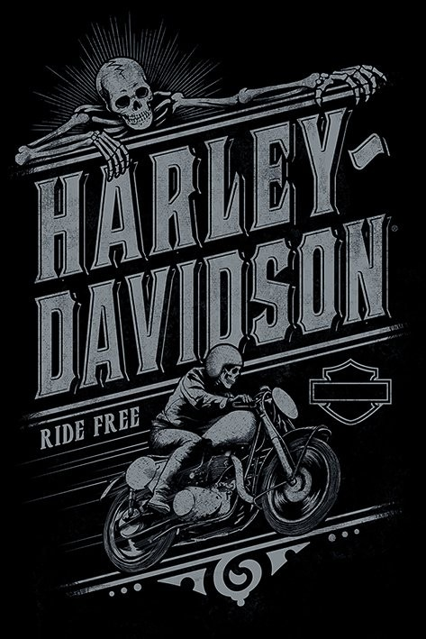 Harley Davidson - Ride Free Poster | Sold at Europosters