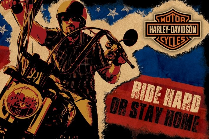Harley Davidson Ride Hard Poster Sold At Europosters