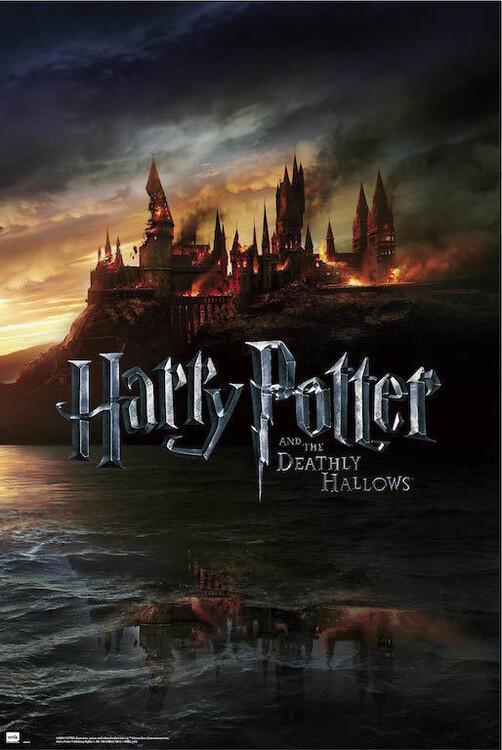 Poster Harry Potter - Burning Hogwarts