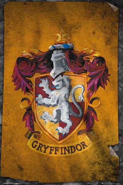 Harry Potter - Gryffindor Flag Poster