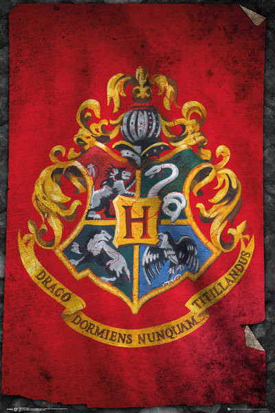 Harry Potter - Hogwarts Flag Poster