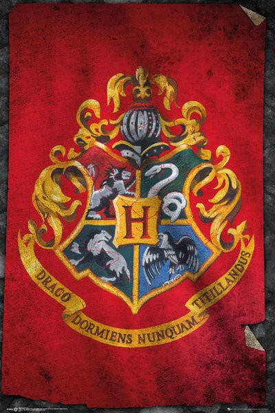 Poster  Harry Potter - Hogwarts Flag