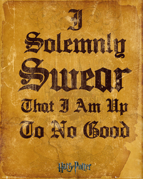 Harry Potter - I Solemnly Swear Poster | Sold at Abposters.com