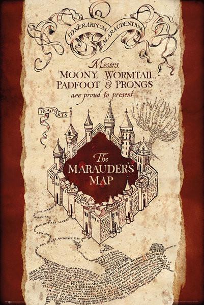 Poster Harry Potter - Marauder's Map