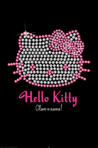 HELLO KITTY - bling Poster, Art Print