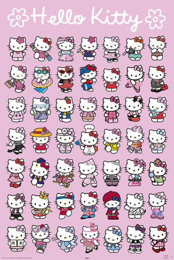 HELLO KITTY - characters Poster, Art Print