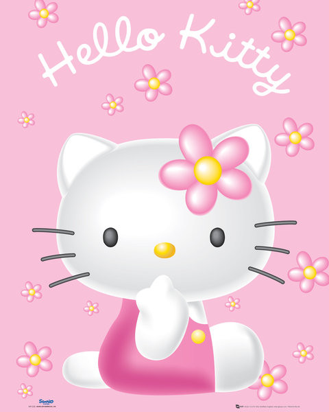 Poster Hello Kitty - Pink