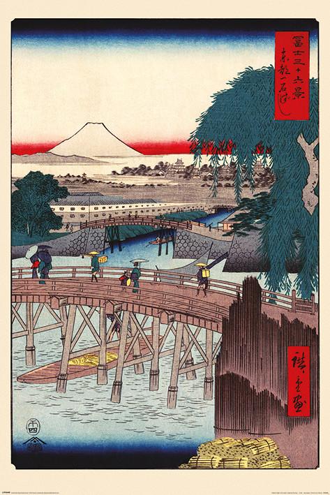 Poster Hiroshige - Ichikoku Bridge In The Eastern Capital