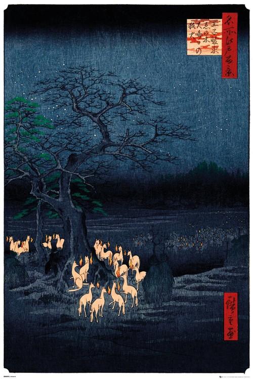 Poster Hiroshige - New Years Eve Foxfire