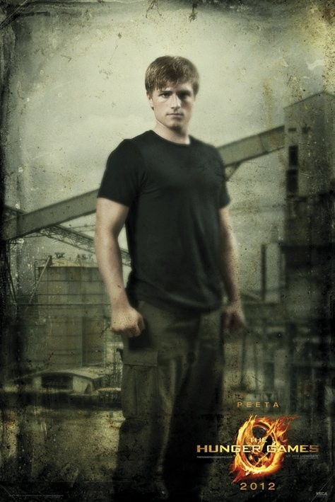 HUNGER GAMES - peeta in district Poster