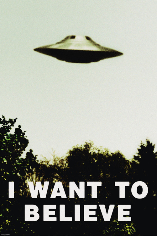I want to believe Poster Sold at EuropostersX Files I Want To Believe Poster