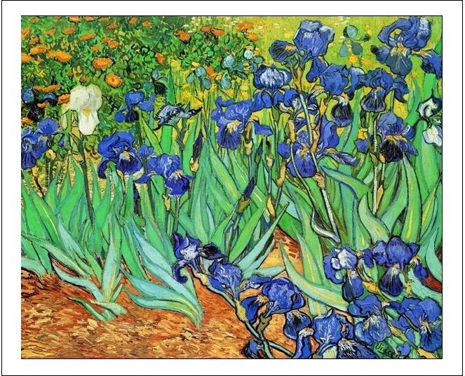 Irises, 1889 Art Print