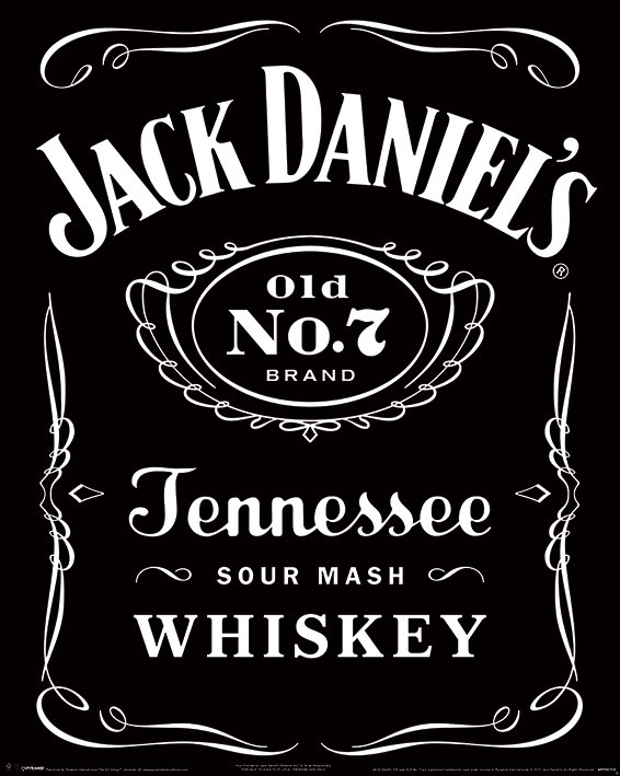 Jack Daniel/'s Poster Label 61 x 91,5 cm