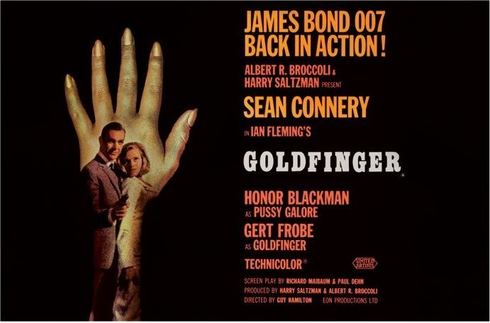 Pôster JAMES BOND 007 - goldfinger hand