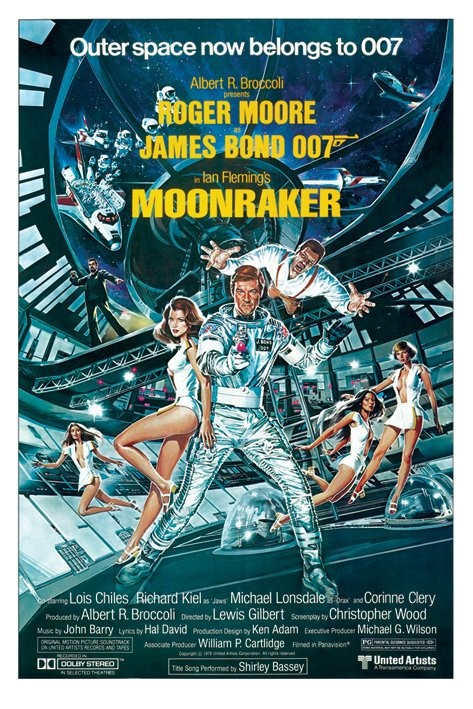 Poster JAMES BOND 007 - moonraker