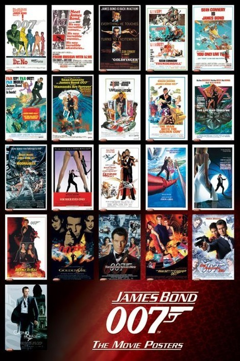 James Bond 007 Movies Poster Sold At Abposters Com