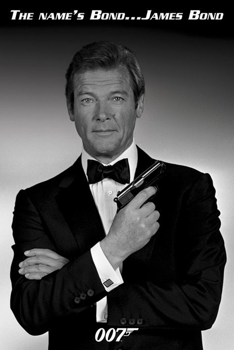 james bond 007 roger moore poster sold at ukposters. Black Bedroom Furniture Sets. Home Design Ideas