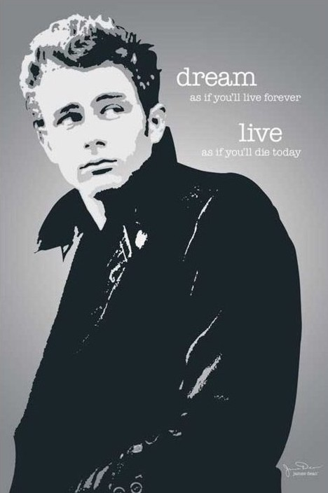 James Dean - dream Poster, Art Print