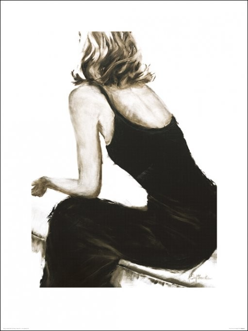 Janel Eleftherakis - Little Black Dress II Art Print
