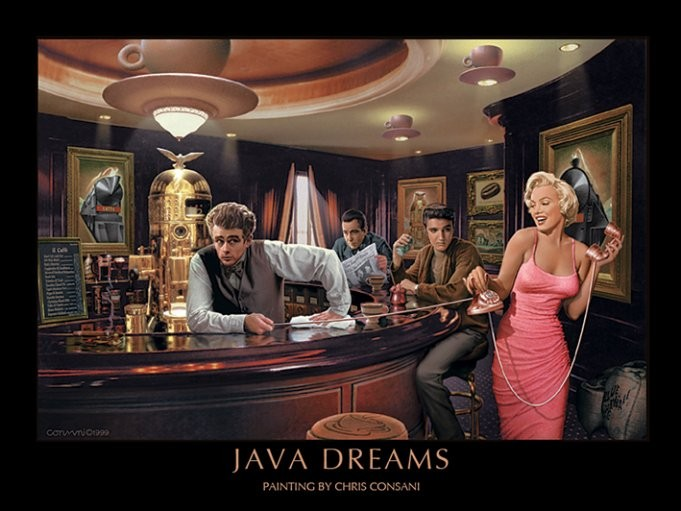 Java Dreams - Chris Consani Art Print