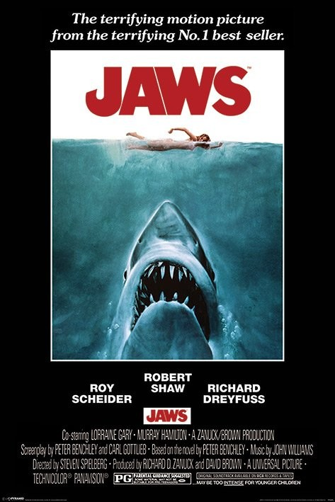 Jaws - One Sheet Poster, Art Print