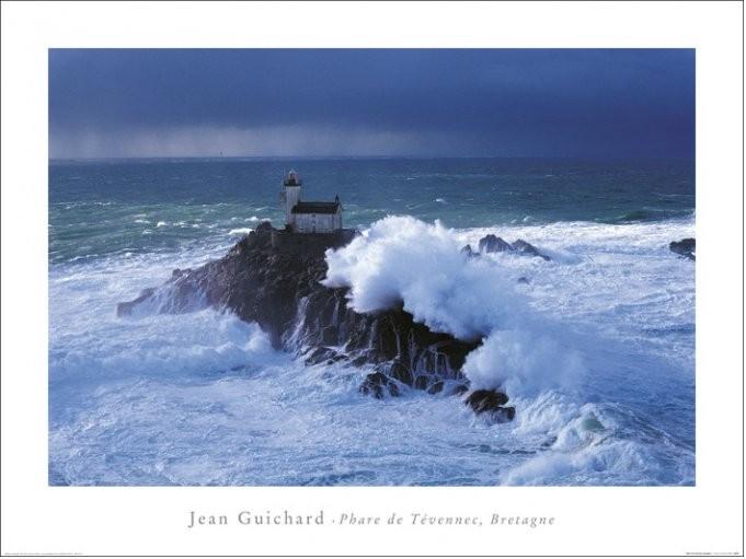 Jean Guichard - Phare De Tevennec, Bretagne Art Print
