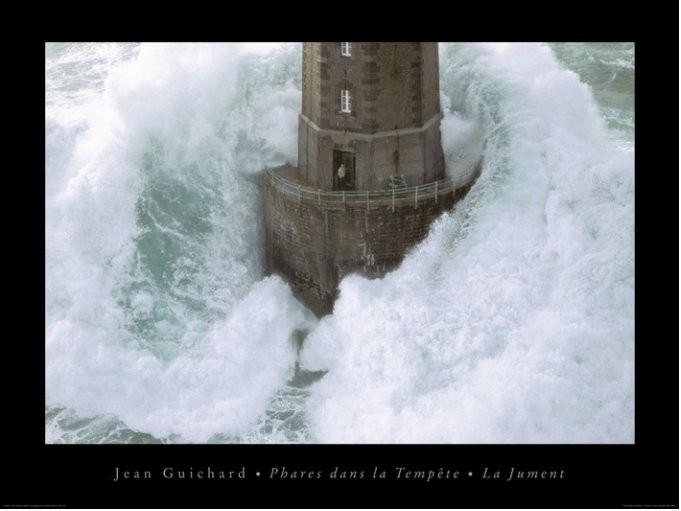 Jean Guichard - Phares Dans La Tempète, La Jument Art Print