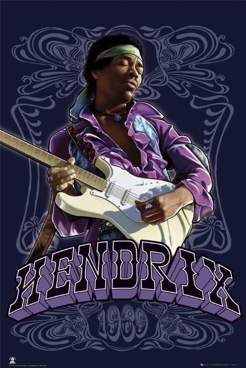 Jimi Hendrix - 1969 Poster