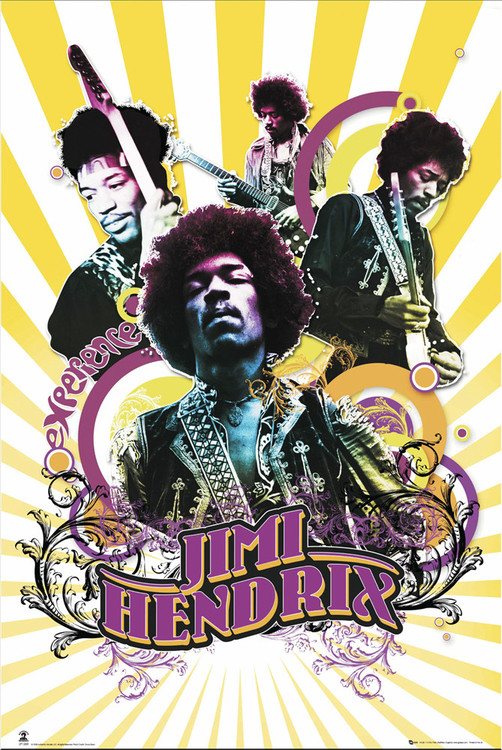 Pôster Jimi Hendrix - collage