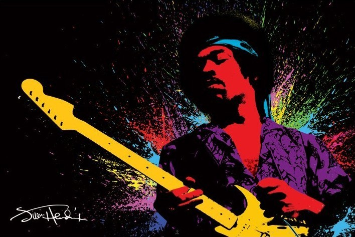 Jimi Hendrix Paint Poster Sold At Europosters