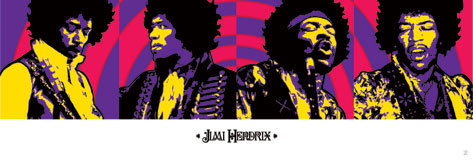Pôster Jimi Hendrix - purple haze