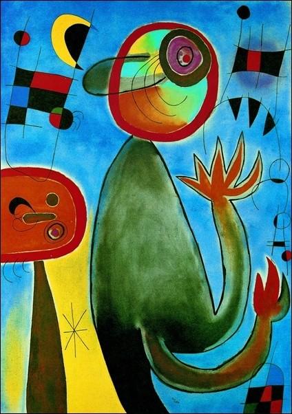 Joan Miro - Les Echelles En Rou De Feu Art Print