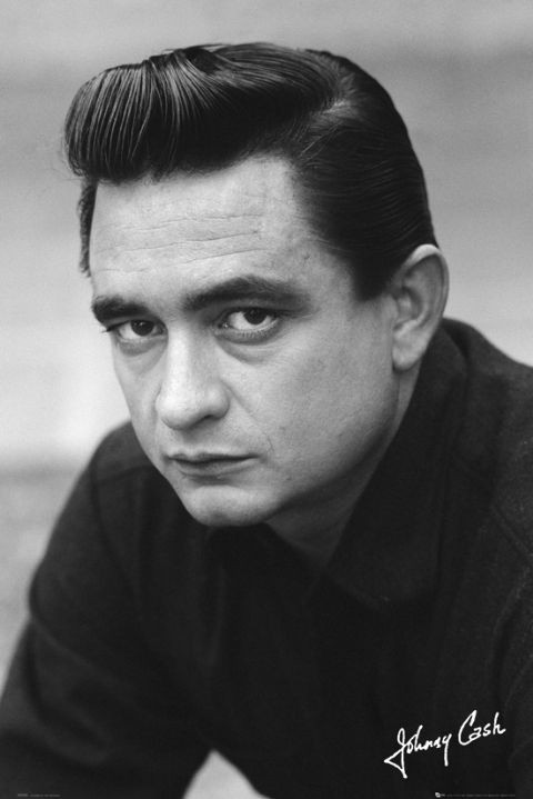 Johnny cash signature poster