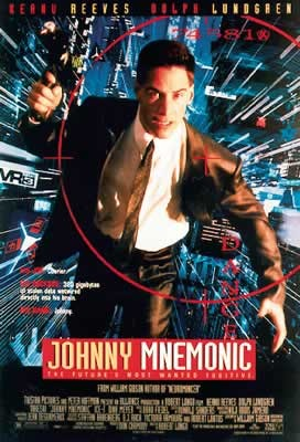 JOHNNY MNEMONIC - Keanu Reeves Poster, Art Print